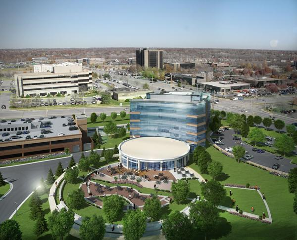 Teva Neuroscience Inc.'s new headquarters will tuck into the southwest corner of Nall Avenue and College Boulevard.