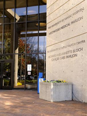 University of Kansas Cancer Center entrance