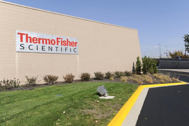 Thermo Fisher Scientific Inc.'s Lenexa facility has three production and administration buildings and a central distribution center in the Meritex Lenexa Executive Park.