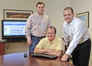 Olathe-based eSolutions, which offers Web-based tools for the health care industry, ranked 2,551st based on three-year revenue growth of 92 percent to $9.8 million last year. It employs 64, was formed in 1999 and ranks 324th in the IT services category. Pictured are Bill Creach (center), CEO of eSolutions, and the company's vice presidents and his sons, Charles Creach (left) and Gene Creach.