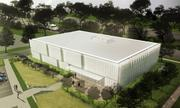 This is a rendering of iModules' new headquarters under construction near College Boulevard and Nall Avenue in Leawood.