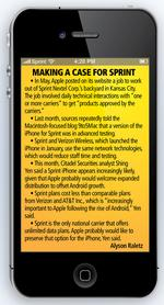 Sprint Nextel, iPhone relationship would be mutually beneficial