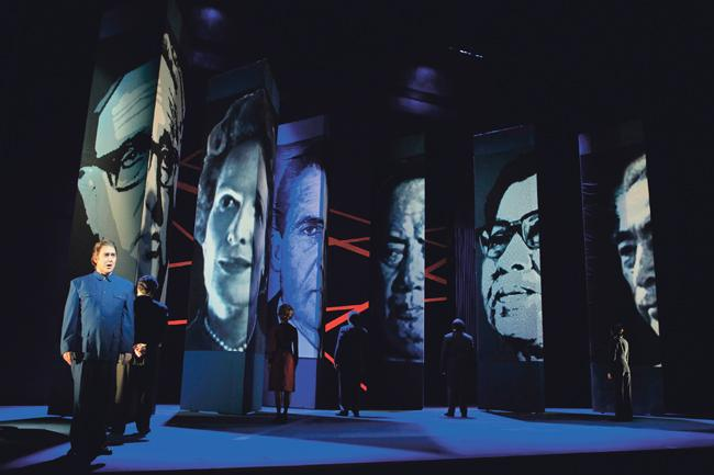 """The Lyric Opera of Kansas City leased its set for """"Nixon in China"""" to the San Francisco Opera, which premiered the show during the summer. The Lyric's new facility gives it space to store used sets, which it now rents out to other opera companies nationwide."""