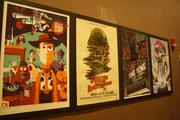 The Mondo Art Wall, which displays artwork from a Lawrence artist.