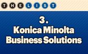 No. 3 Konica Minolta Business Solutions  Local Employees: 85 Location: Lenexa, Kan. For more information, check out the 2013 Top office equipment companies  available to KCBJ subscribers.