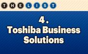 No. 4 Toshiba Business Solutions  Local Employees: 80 Location: Lee's Summit, Mo. For more information, check out the 2013 Top office equipment companies  available to KCBJ subscribers.