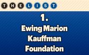 No. 1 Ewing Marion Kauffman Foundation  2012 Assets: $1,900,000,000 Location: Kansas City, Mo. For more information, check out the 2013 Top charitable trusts and foundations  available to KCBJ subscribers.