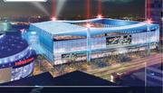 An exterior shot showing the HNTB proposal for Farmers Field.