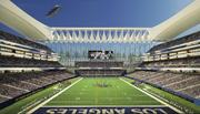 An interior shot showing the HNTB proposal for Farmers Field.