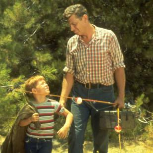 """Ron Howard and Andy Griffith are pictured in a scene from  """"The Andy Griffith Show."""""""
