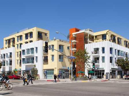 The 97-unit NMS @ Lincoln houses 375-square-foot starter apartments.