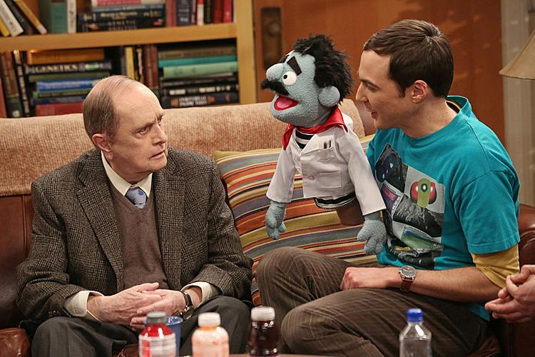 """Bob Newhart's guest spot on """"The Big Bang Theory"""" put the CBS sitcom in first place among adults 18-49 last week."""
