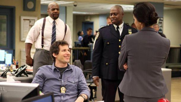 """Andy Samberg and Andre Braugher star in """"Brooklyn Nine-Nine,"""" one of five new comedies ordered by Fox for the 2013-14 season."""