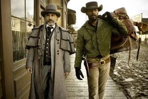 Christoph Waltz and Jamie Foxx in