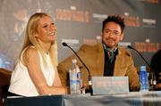 Gwyneth Paltrow and Robert Downey Jr. were all smiles for the Munich press.