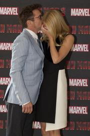 """Robert Downey Jr. and Gwyneth Paltrow wrapped up the world tour for """"Iron Man 3"""" in London."""
