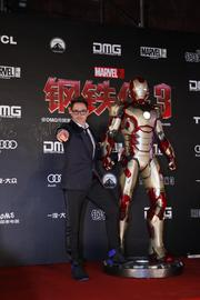 """Robert Downey Jr. posed for pictures with his alter ego on the China leg of the world tour for """"Iron Man 3"""" at Beijing's Forbidden City last week."""