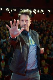 """Robert Downey Jr. stopped by an """"Iron Man"""" fan convention during the Russian leg of a world tour promoting the Marvel blockbuster this week."""