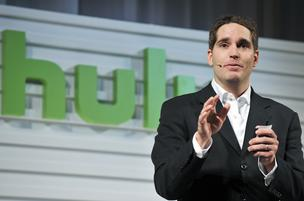 Hulu CEO Jason Kilar speaks during a presentation in Tokyo in Sept. 2011. Kilar has stepped down as head of the online video portal.