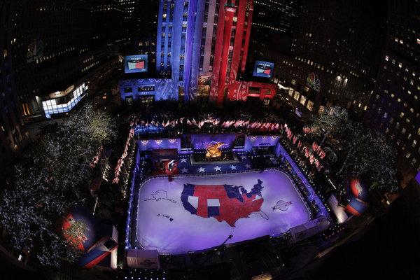 NBC, which reported election results from Democracy Plaza in Rockefeller Center, scored the highest ratings of the night among broadcasters.
