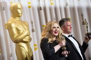 "Adele and Paul Epworth's ""Skyfall"" won best original song."