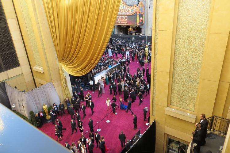 This is as close as I got to the red carpet at the 85th Academy Awards.