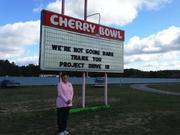Honda lights up the Cherry Bowl Drive-In Theatre in Honor, Mich., with a digital projector award.