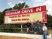 Texas' Graham Drive-In will not go dark as it receives a digital projector from Honda's Project Drive-In.