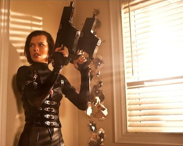 "Milla Jovovovich is pictured in a scene from ""Resident Evil: Retribution."""