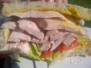 The turkey sandwich is another deli classic offered by Roast.