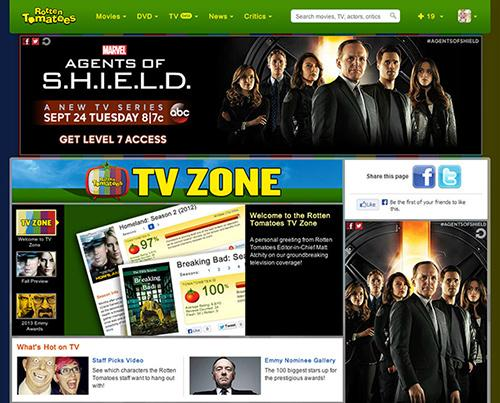 Rotten Tomatoes has launched a TV Zone, where its fresh/rotten rating system will be applied to television seasons.