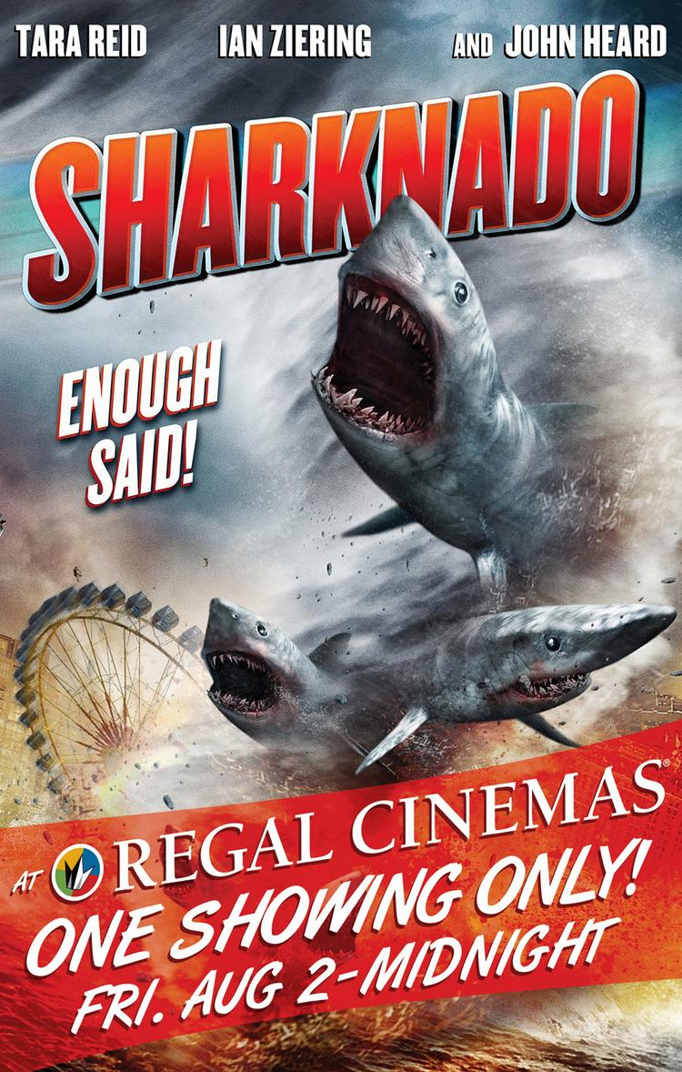 """""""Sharknado"""" will play at midnight in 200 Regal theaters on Aug. 2."""