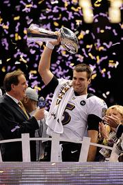 Here's an ESPN The Magazine profile of Baltimore Ravens quarterback Joe Flacco that I found fascinating because it's less a story of the interesting person behind the bland facade, though it is that. Rather, it's more a story about organizational culture, and what happens when it's forced to change. In this case, that meant going from a team dominated by big-personality defensive players to one led by a guy who wants to throw for 40 touchdowns per season and who, upon signing a $120.6 million contact, was photographed picking up 10-piece Chicken McNugget meal with fries and iced tea from a McDonald's drive-through window.