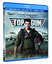 """Top Gun's"" Blu-ray 3-D/2-D combo with digital copy includes special  features such as filmmaker commentary; a six-part making-of documentary; ""Inside the Real Top Gun,"" behind-the-scenes and survival-training  featurettes; four music videos; and interviews with Tom Cruise."