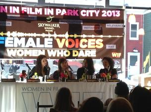 """It was about bloody time the men were treated as accessories,"" noted panelist Francesca Gregorini at the Women in Film event at Sundance."