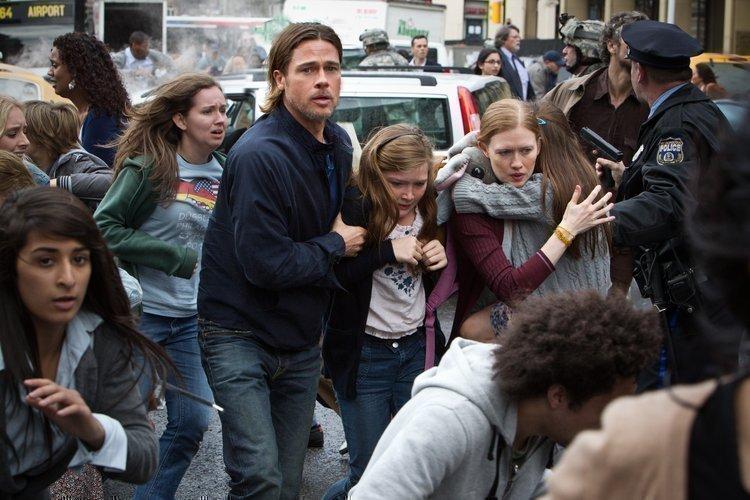 "Brad Pitt stars in the movie ""World War Z"""