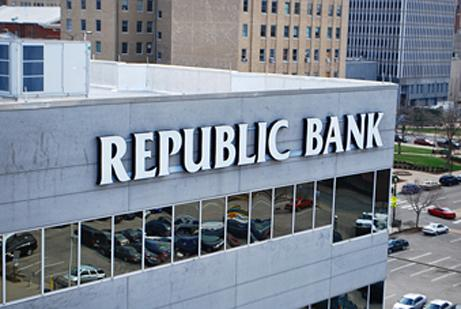 Republic Bank works with the U.S. Small Business Administration on about 10 to 15 percent of its small-business loans.