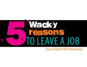 Wacky reasons to leave a job slide show