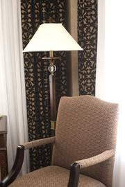 Here is a close-up view of the drapes in one of the renovated rooms.
