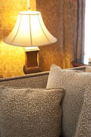 This photo shows a close-up look at the patterns used in the Ali suite at The Brown Hotel.