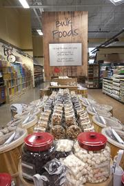 Earth Fare has a large selection of bulk foods.