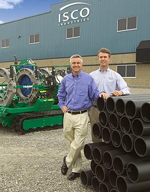 ISCO Industries CEO Jimmy Kirchdorfer, left, is shown with his brother Mark Kirchdorfer at the company's Jefferson Riverport International facility.
