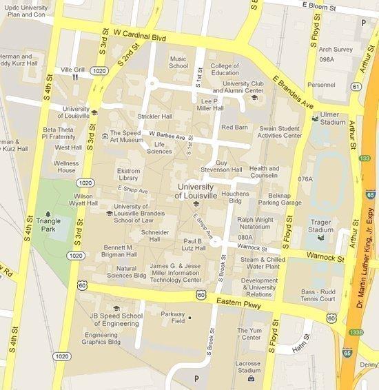 Apple iOS 6, Google maps disagree on U of L, Bellarmine - Louisville ...