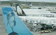 Frontier Airlines jets at Denver International Airport (file photo)