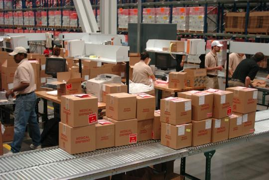 Health care-related logistics is a growing part of the business at the UPS Supply Solutions campus in Louisville.