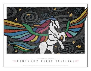 The 2013 officials Kentucky Derby Festival poster image was created by Louisville illustrator and graphic artist Lonnie Walker.