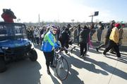 People were excited to finally get access to the new walkway across the Ohio River.