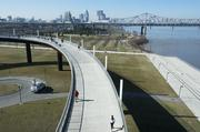 Another view of downtown Louisville and Waterfront Park from the Big Four Bridge.