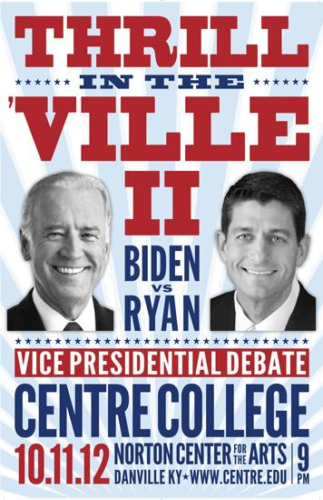 Centre College will be the site of the vice presidential debate between Vice President Joe Biden and U.S. Rep. Paul Ryan.
