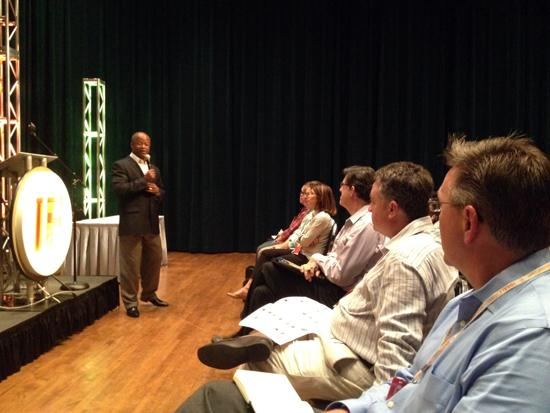 International chess grandmaster Maurice Ashley spoke to attendees of the IdeaFestival.